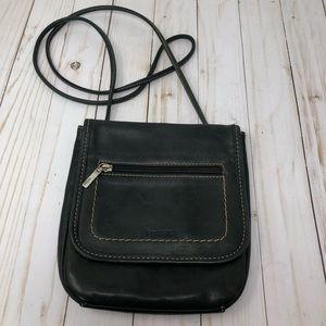Vintage Leather Fossil Crossbody Purse Black